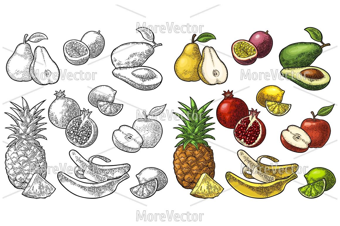 Set fruits. Set fruits.  example image 1