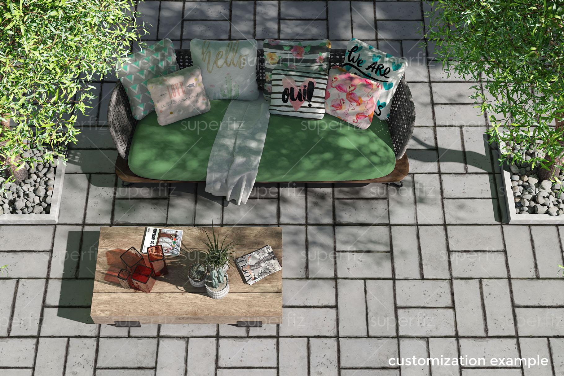 Blank Floor Outdoor PSD Mockup SM14 example image 5