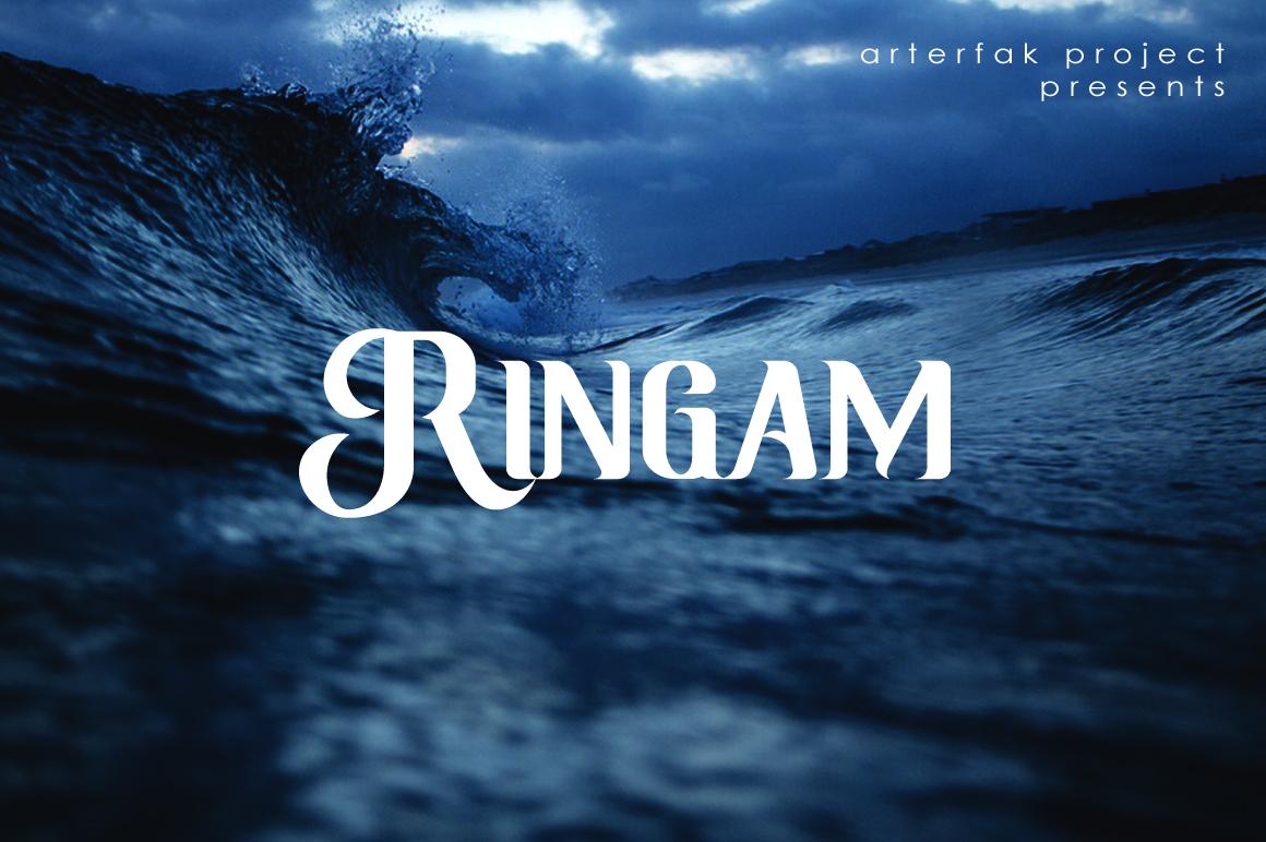 Ringam Typeface example image 1