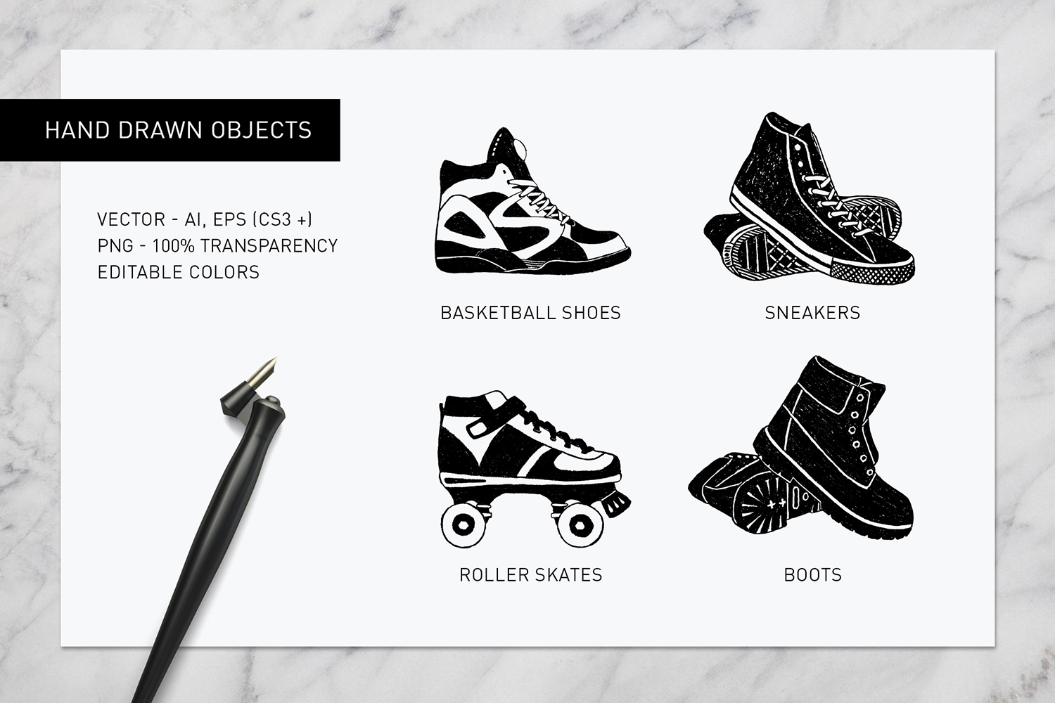 Good Shoes. 8 Inspirational Badges example image 10