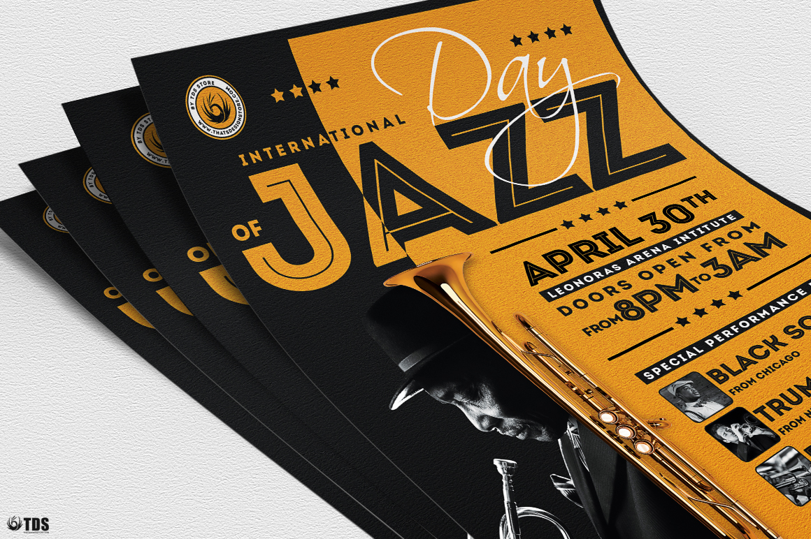 Jazz Day Flyer Template V1 example image 5
