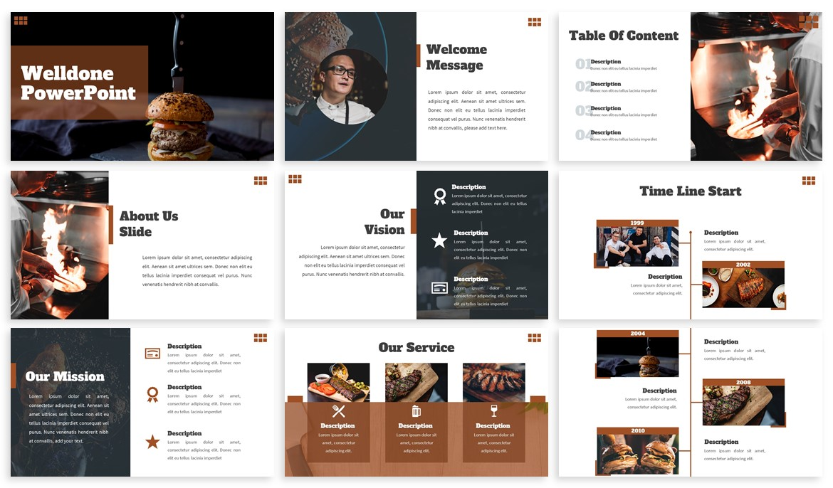 Welldone - Food Powerpoint Template example image 2