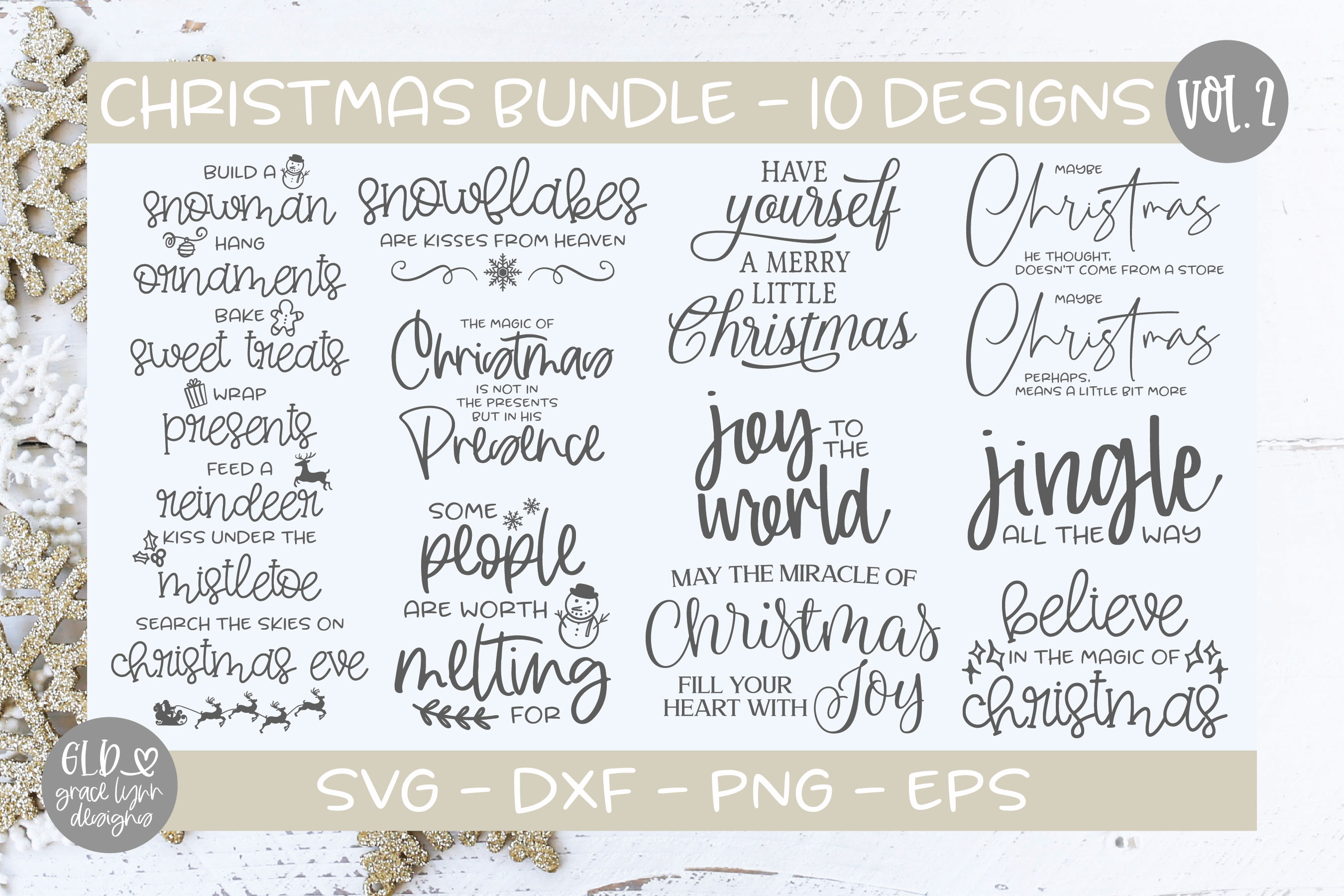Farmhouse Christmas Bundle - 95 Christmas Designs example image 5