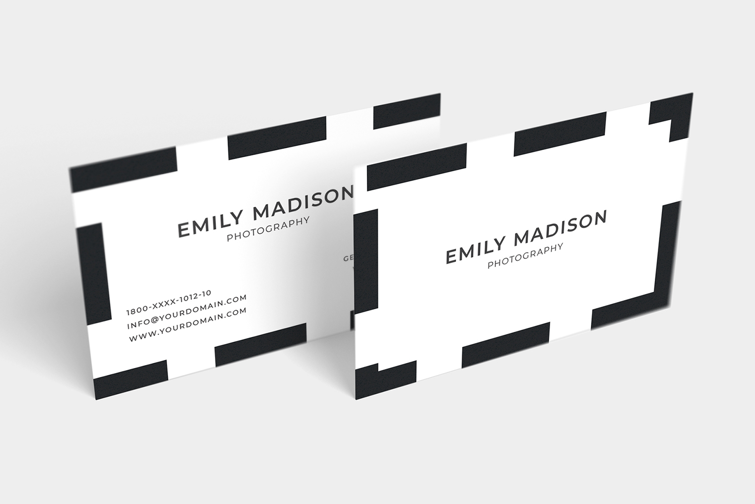 Clean Minimal Business Card Template example image 7