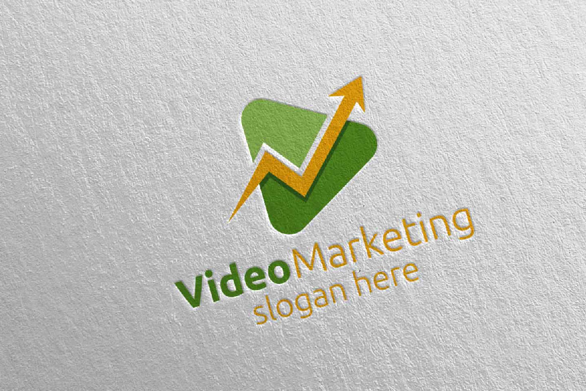 Video Marketing Financial Advisor Logo Design 20 example image 3