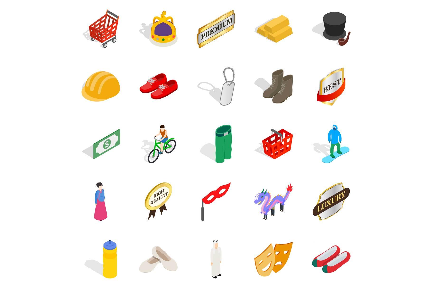 Own icons set, isometric style example image 1