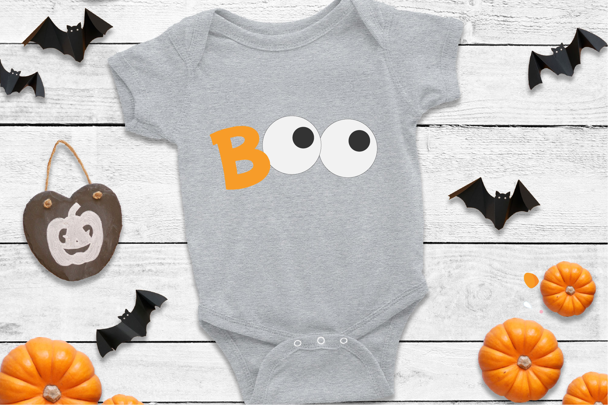 Boo Halloween SVG Sublimation, Halloween Eyes SVG example image 1