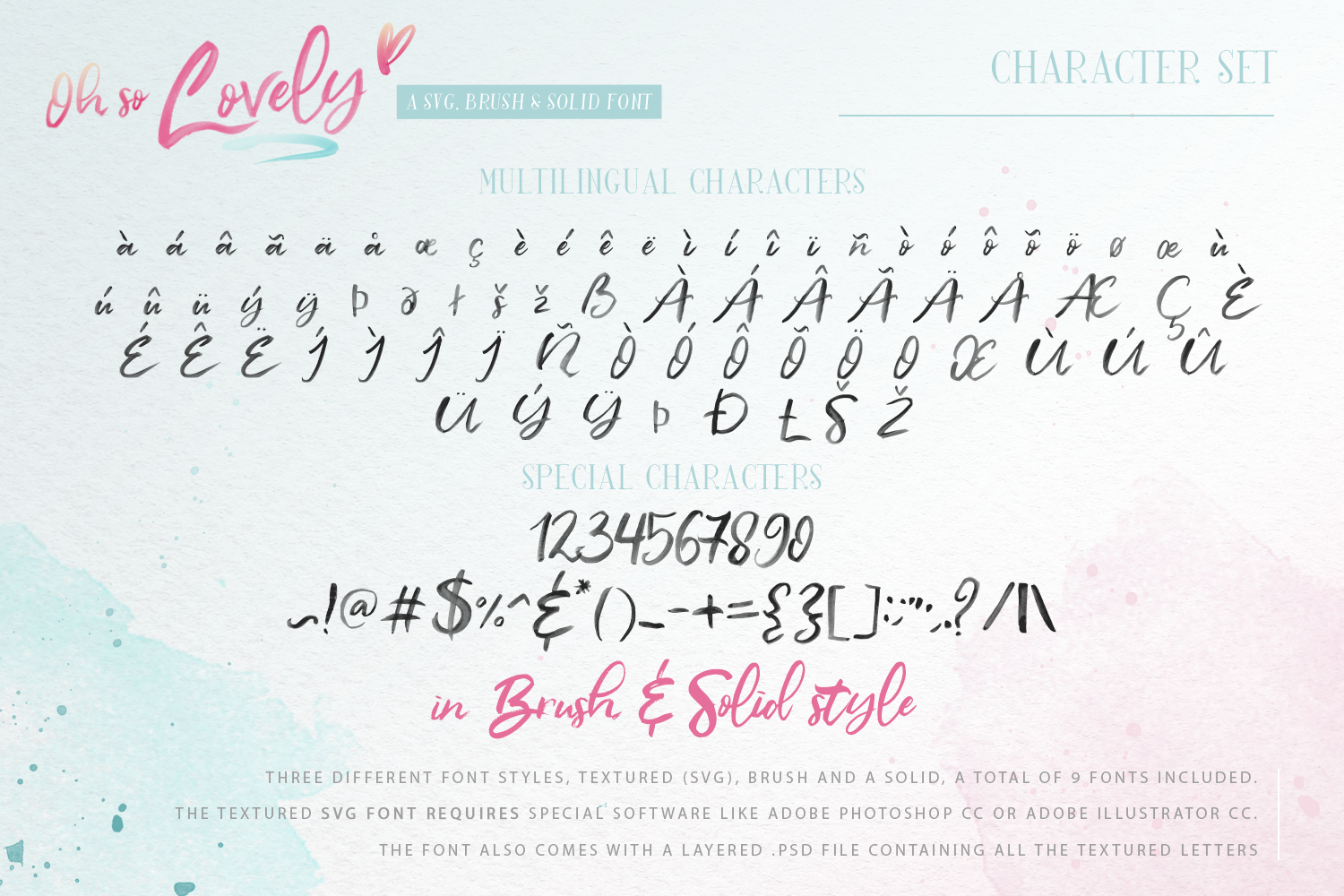 Oh So Lovely Font a SVG Brush font example image 13