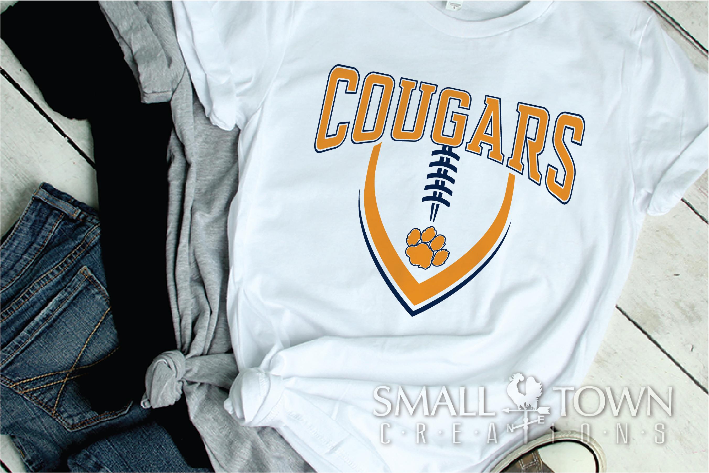 Cougar Football, Paw Print, Team, PRINT, CUT & DESIGN example image 2