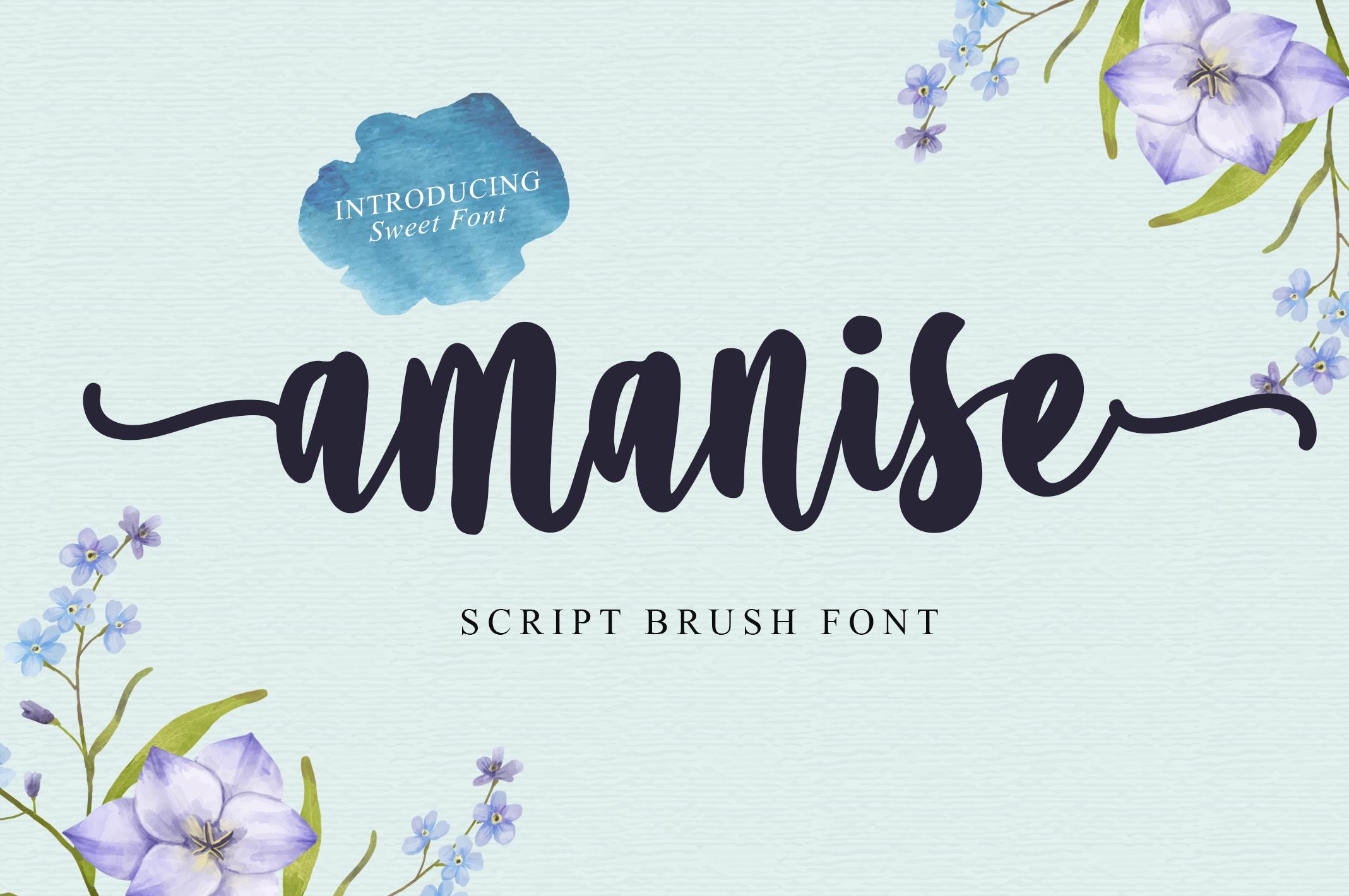 Amanise | Handwritten Script Font example image 8