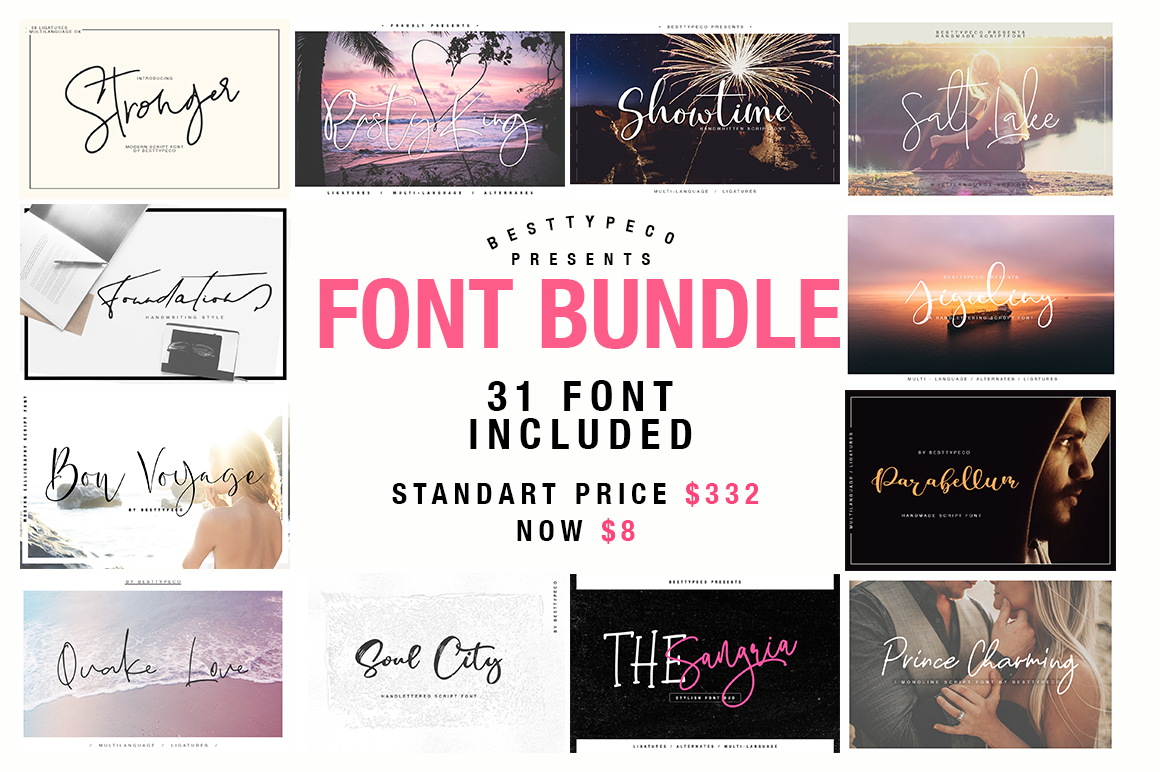 31 IN 1 FONT BUNDLE by Besttypeco example image 1