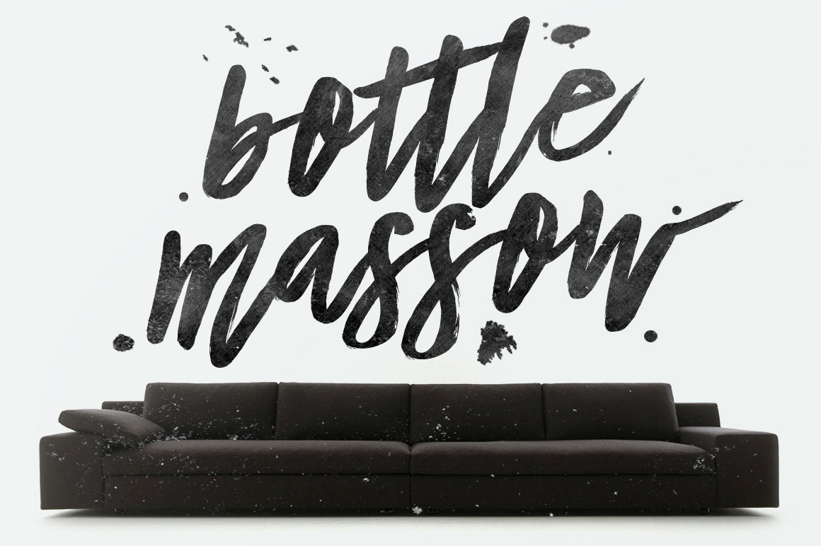 Bottle Massow Brush Script example image 1