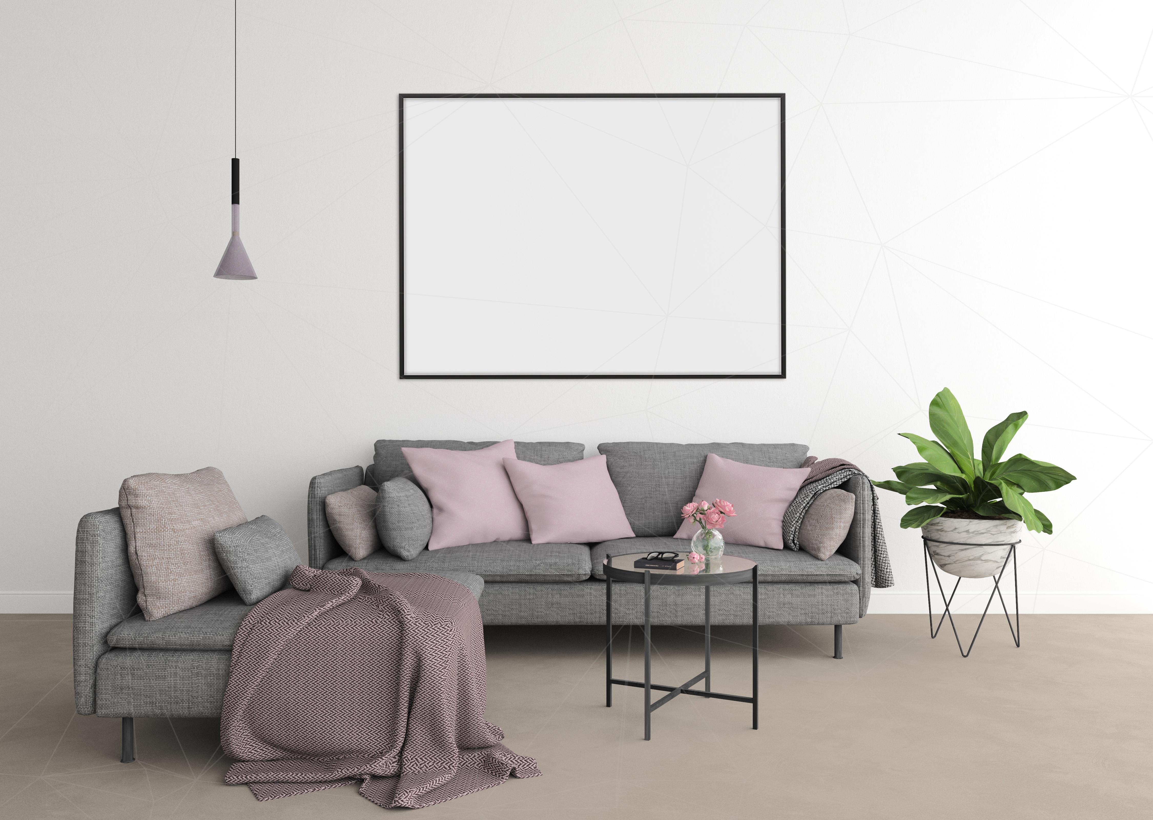 Interior mockup - blank wall mock up example image 4