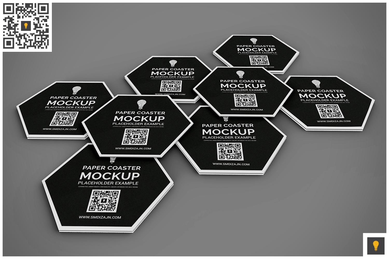 Paper Coaster Mockup example image 3
