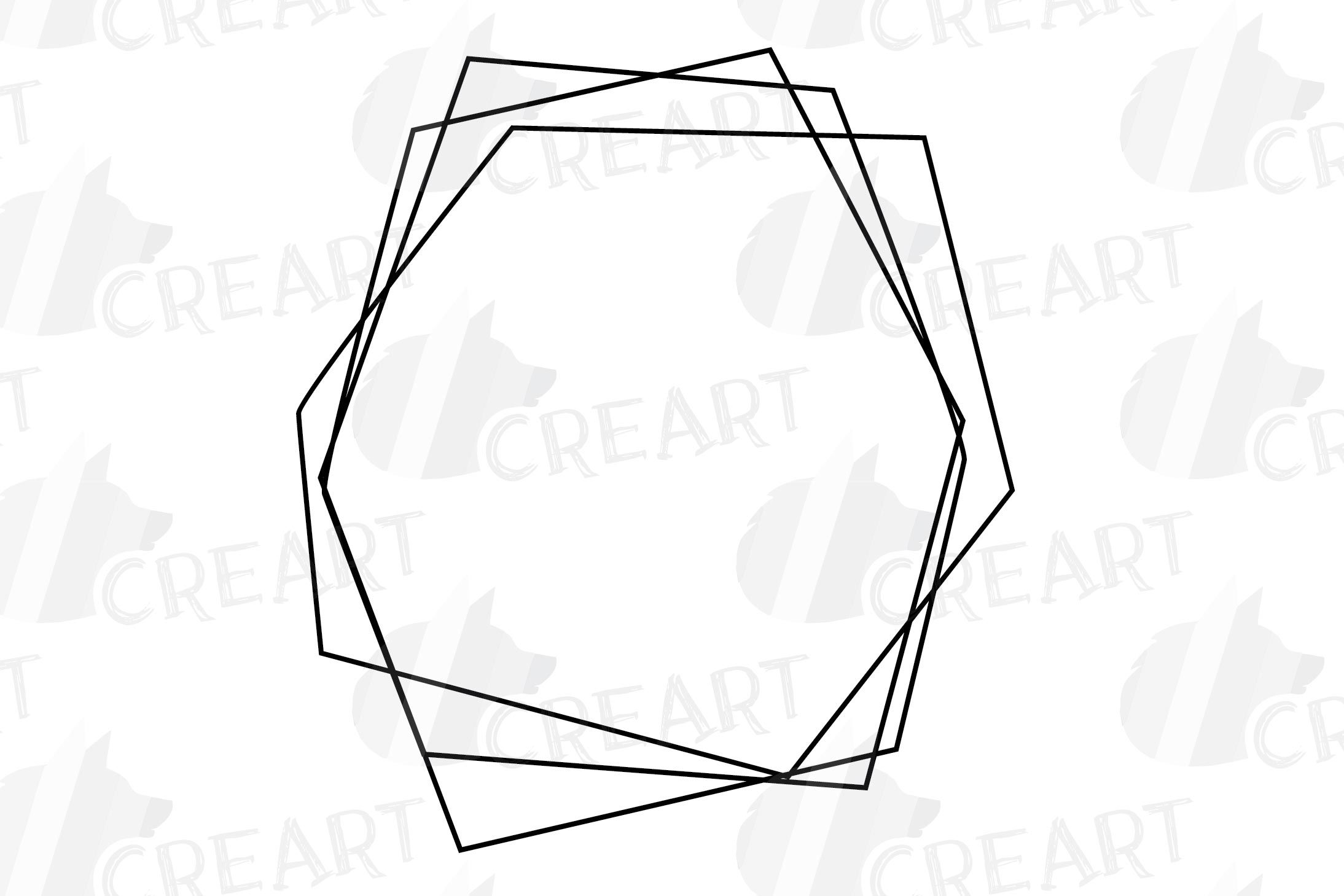 Geometric lineal black frames decor clip art. Wedding border example image 16