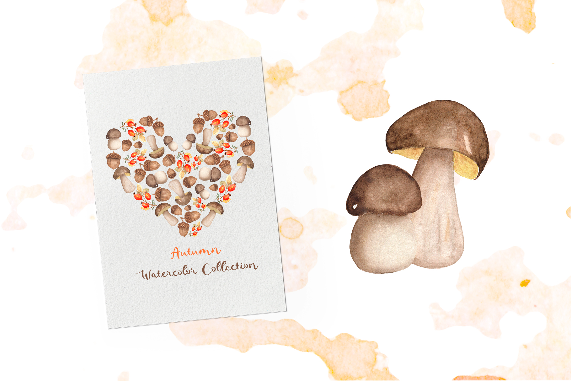 Watercolor Autumn Collection example image 9