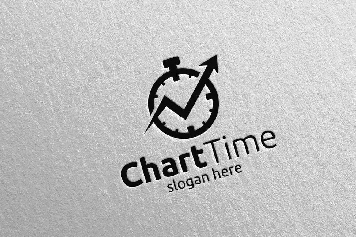 Chart Time Marketing Financial Advisor Logo Design 18 example image 5