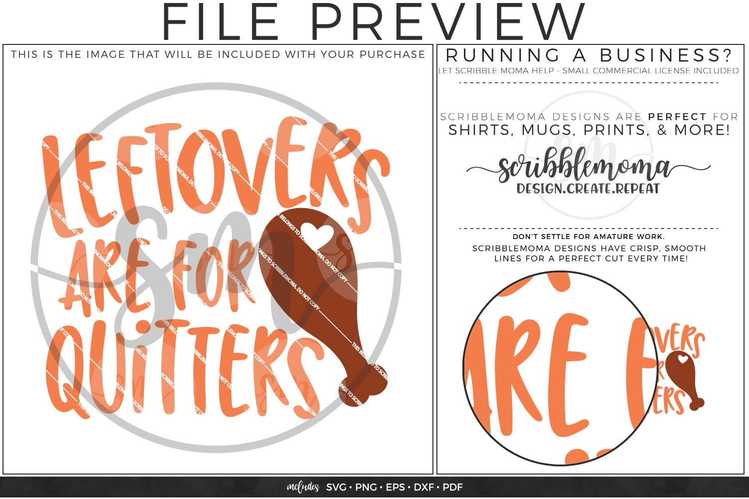 Leftovers are for Quitters SVG - Thanksgiving svg example image 2