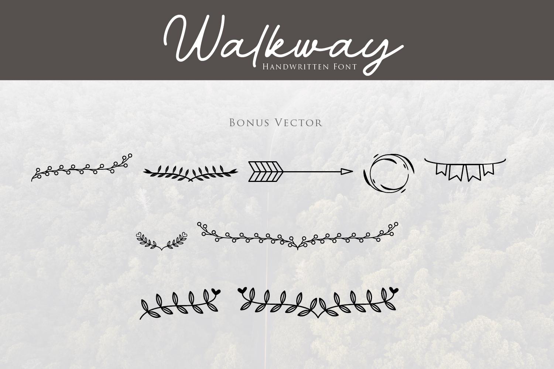 Walkway Font  Bonus Vector example image 10