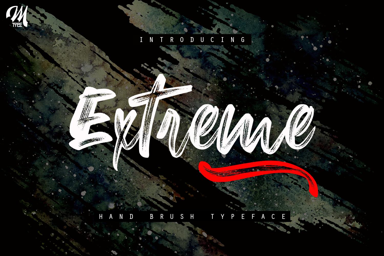 New Extreme Brush Font example image 2