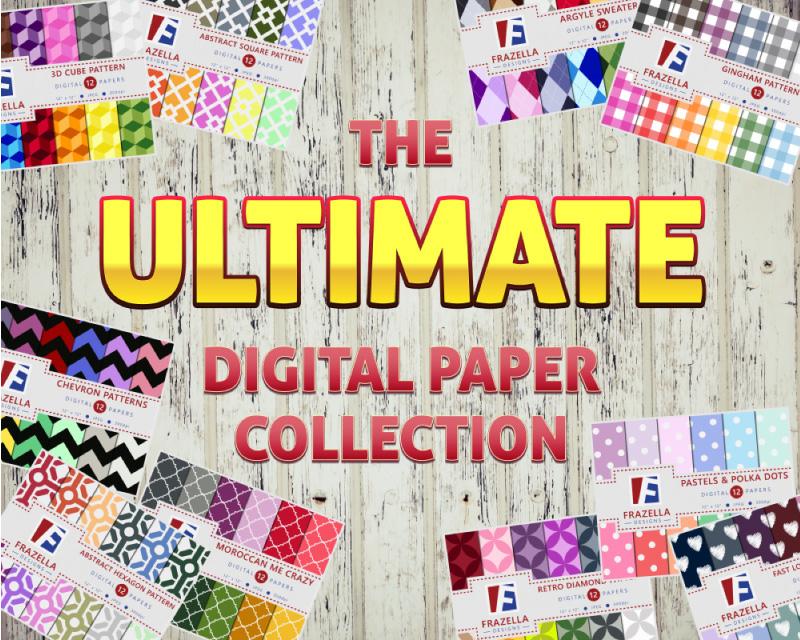 The ULTIMATE Digital Paper Bundle example image 1