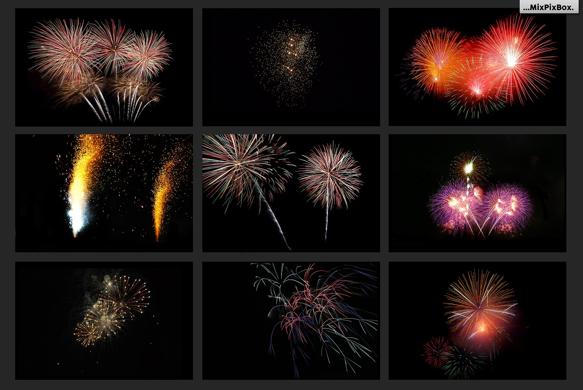 100 Fireworks Overlays example image 13