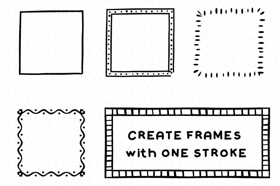 Vector Brushes - Handmade Tribal Style Graphics example image 10