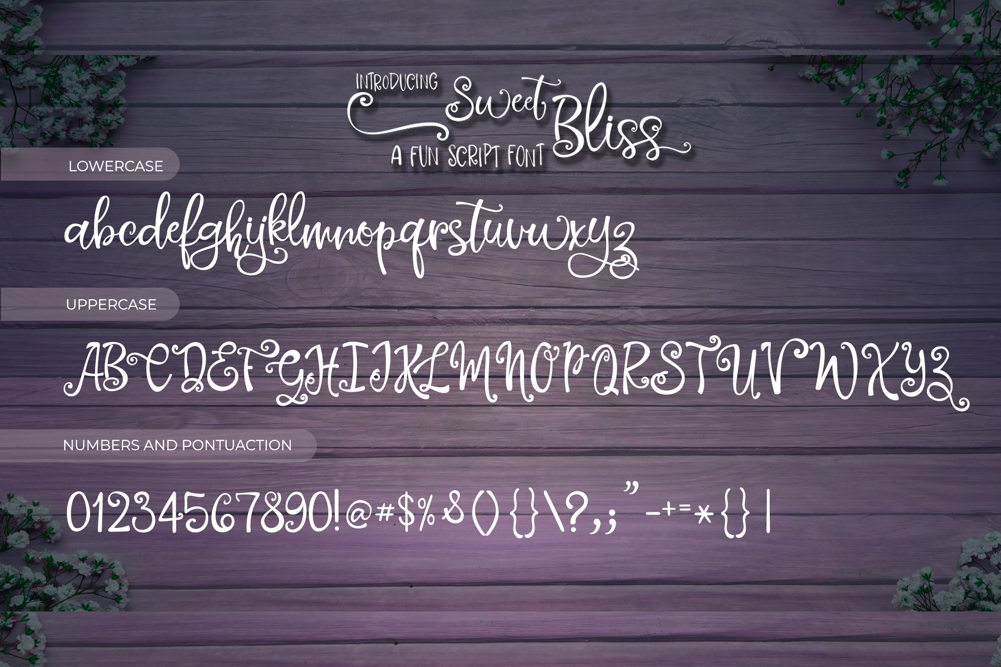 Sweet Bliss Font Duo example image 5