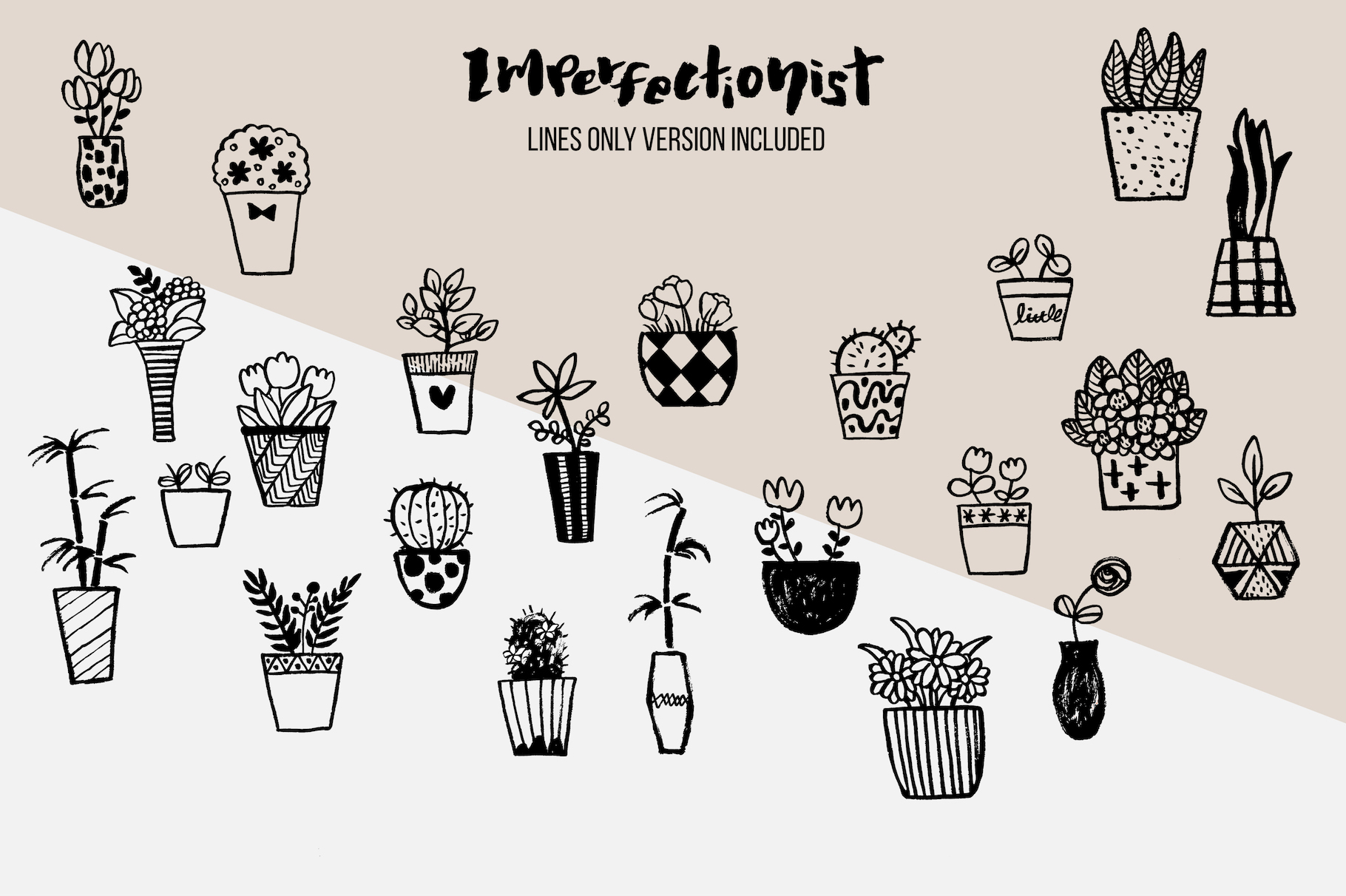 Imperfectionist - Inked Plant pots example image 6