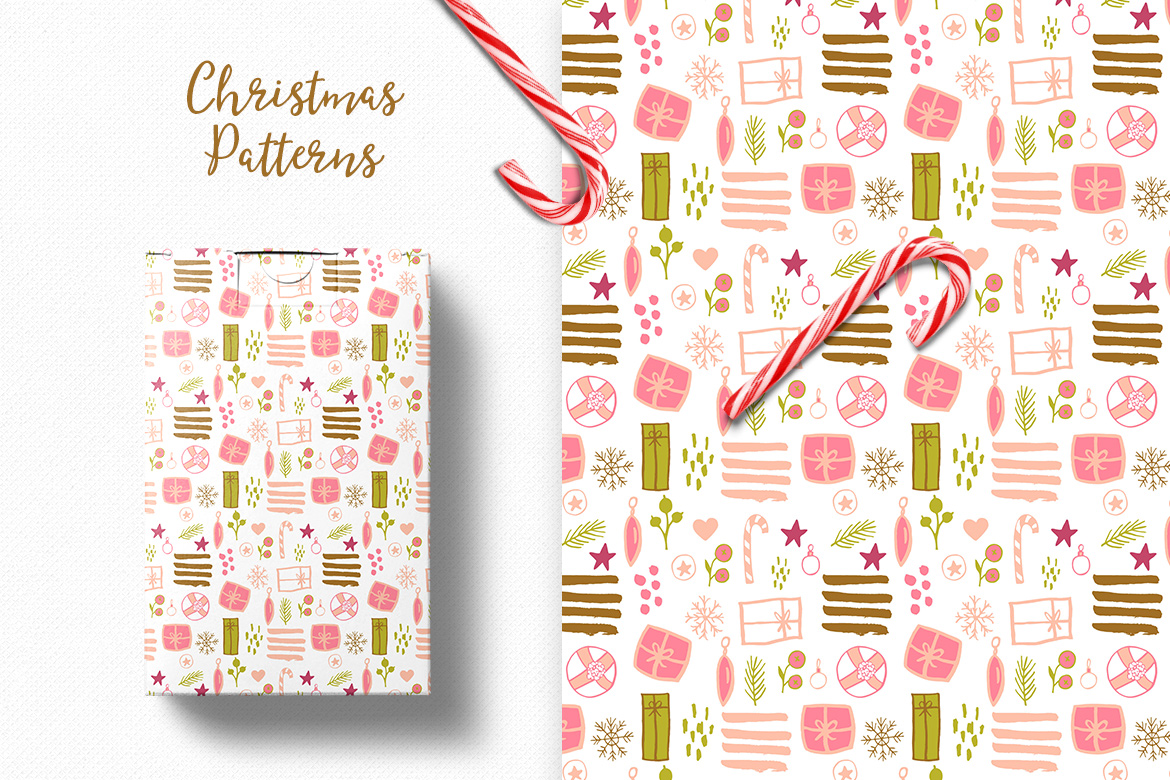 Christmas Pattern Collection example image 7