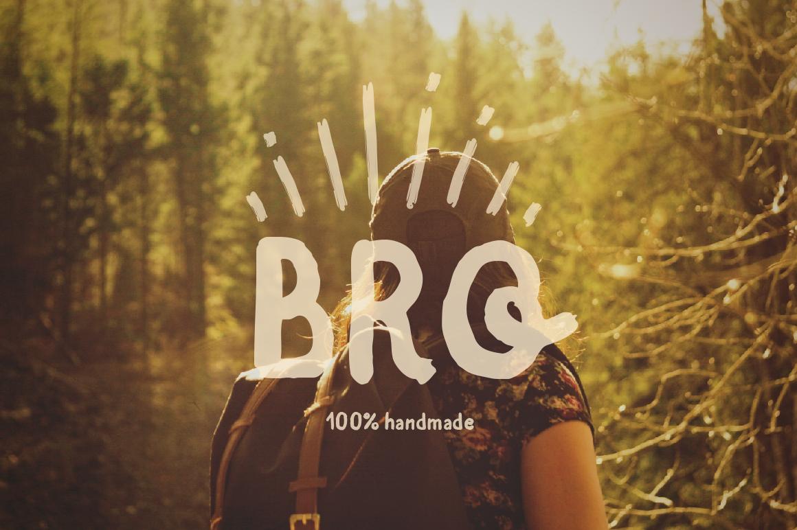 Bro—handwritten font example image 1