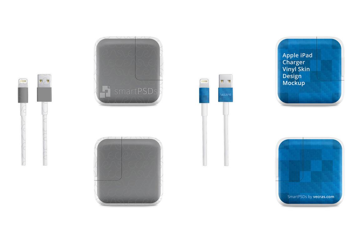 Apple iPad Power Adapter Vinyl Skin Design Mockup example image 2