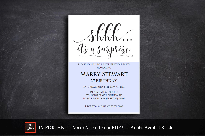 Birthday Invitations Template example image 3