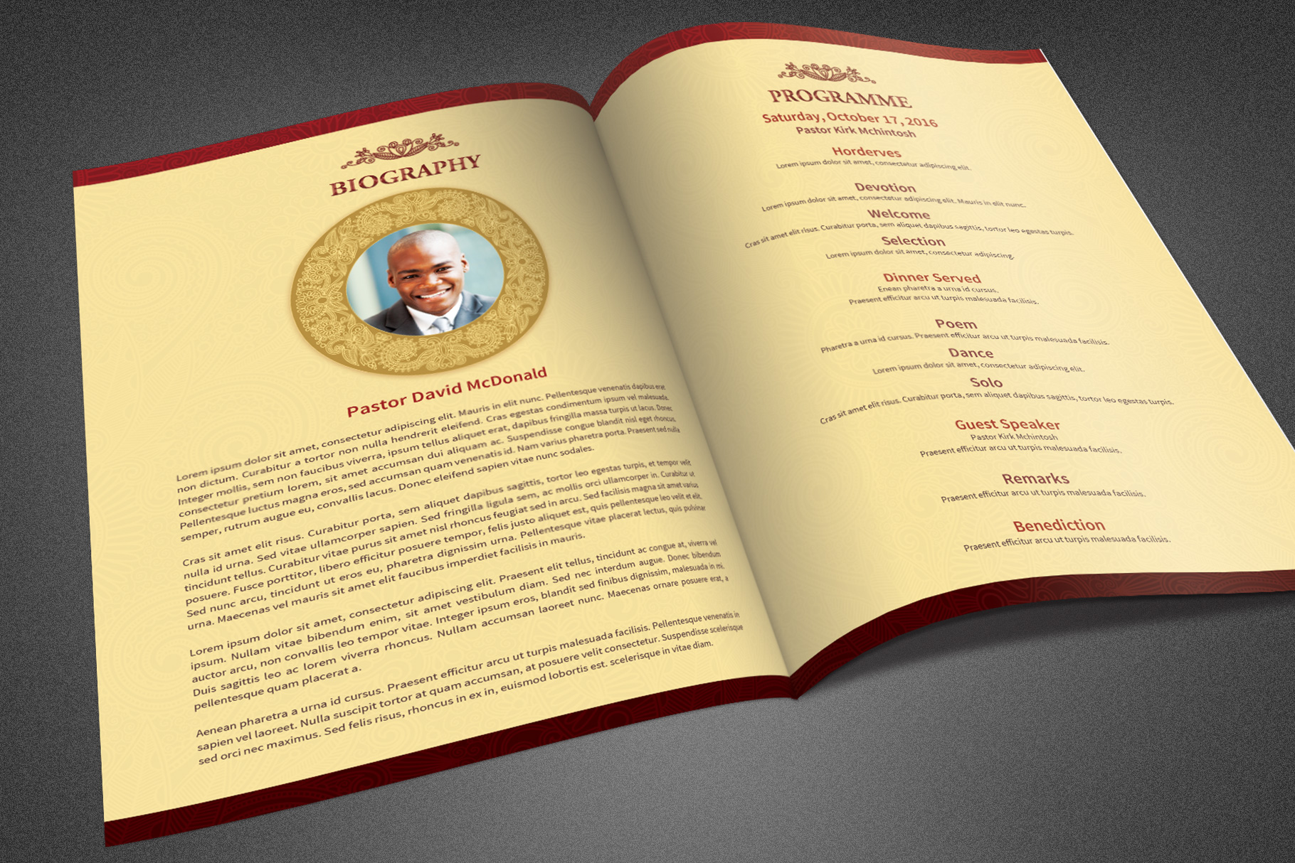 Pastor Appreciation Program Template example image 3