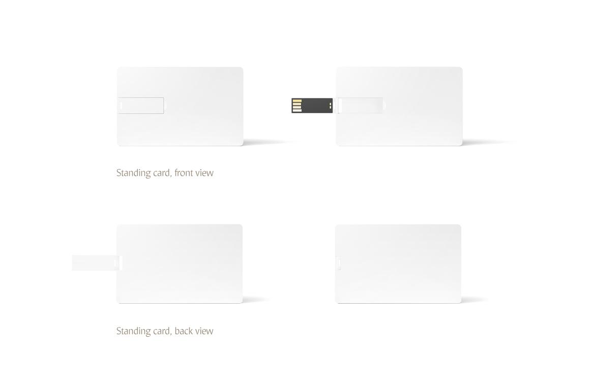 Wafer USB Wallet Card Mockup example image 4