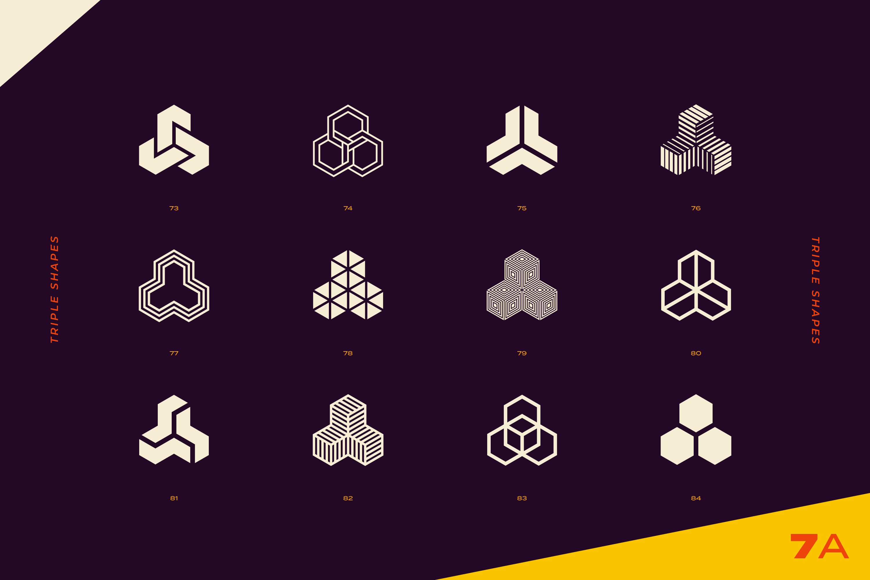 96 Abstract logo marks & geometric shapes collection example image 20