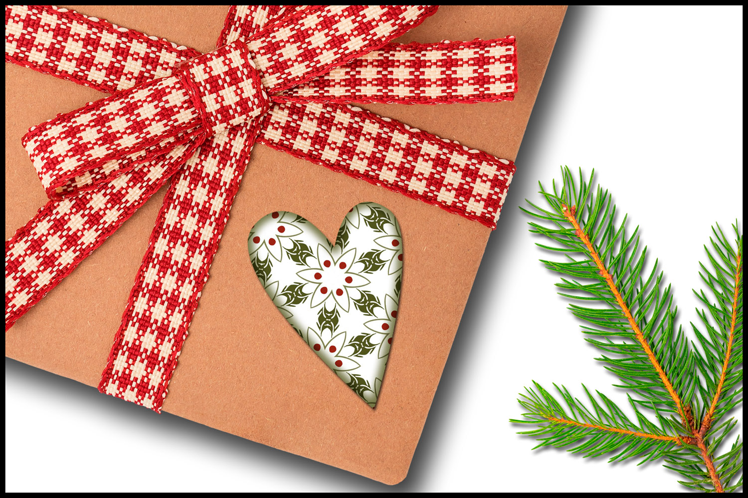 Christmas Clip Art, Holiday Primitive Hearts example image 6