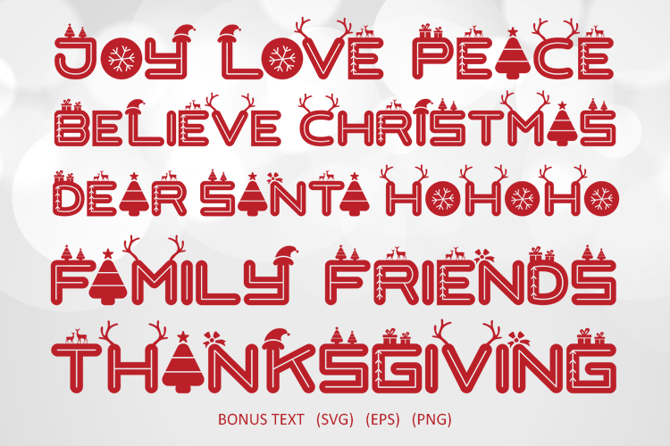 Love Santa - A Special Font For Christmas example image 6