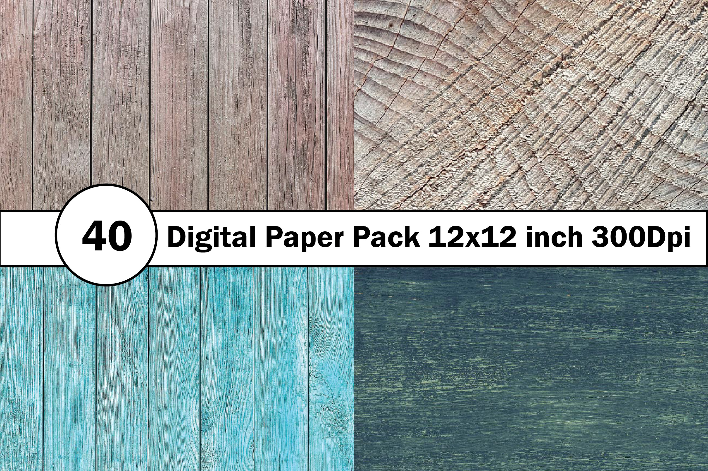 40 Digital Paper Pack 12x12 inch 300 Dpi example image 2
