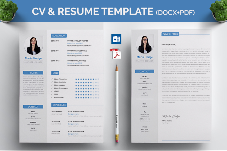 CV Resume MS Word Template example image 1