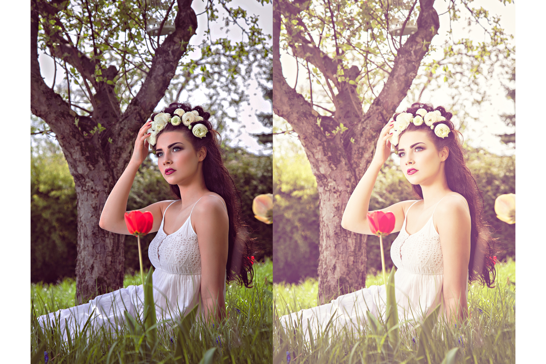 47 Spring Photoshop Actions Collection (Action for photoshop CS5,CS6,CC) example image 1