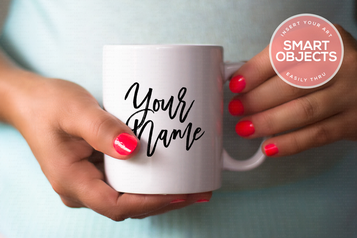 Hands Holding Mug Mockup #4 example image 1