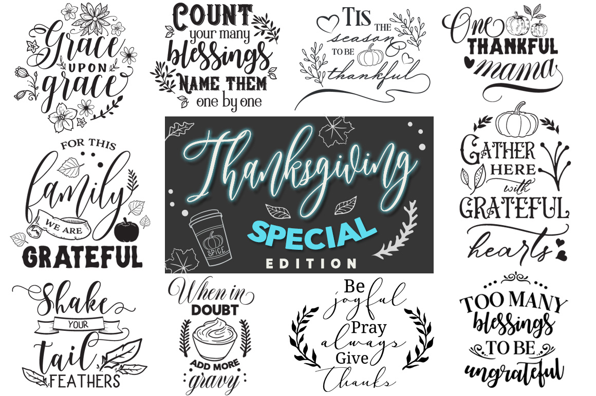 Thanksgiving Special Edition - 30 Cut Files Pack example image 1
