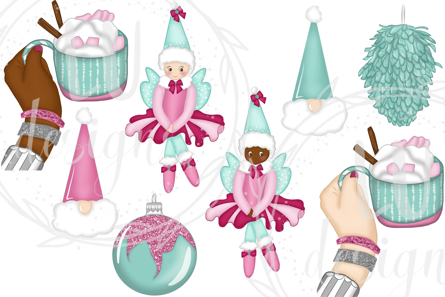 Christmas Clipart, Holidays Graphics, Winter Clipart example image 3