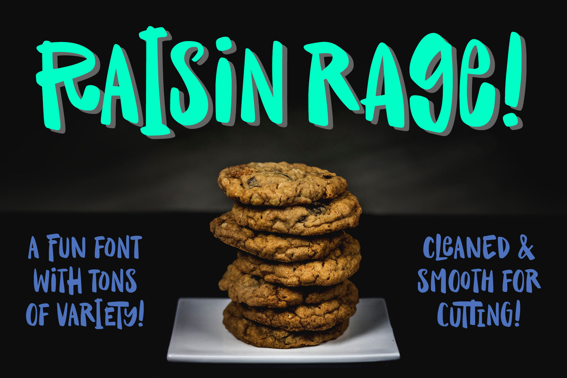 Raisin Rage - a fun casual font with alternates! example image 1