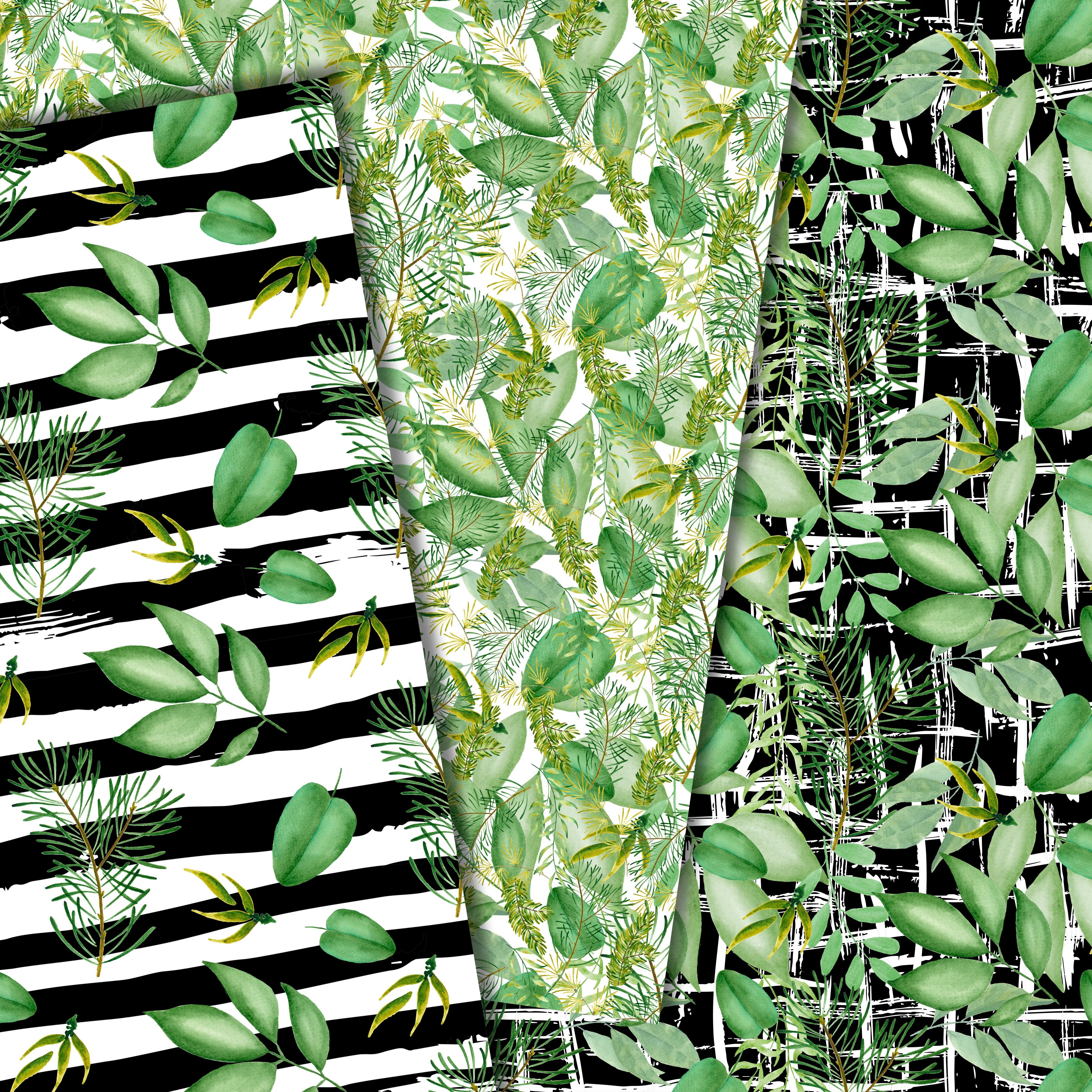 Green leaves paper example image 6