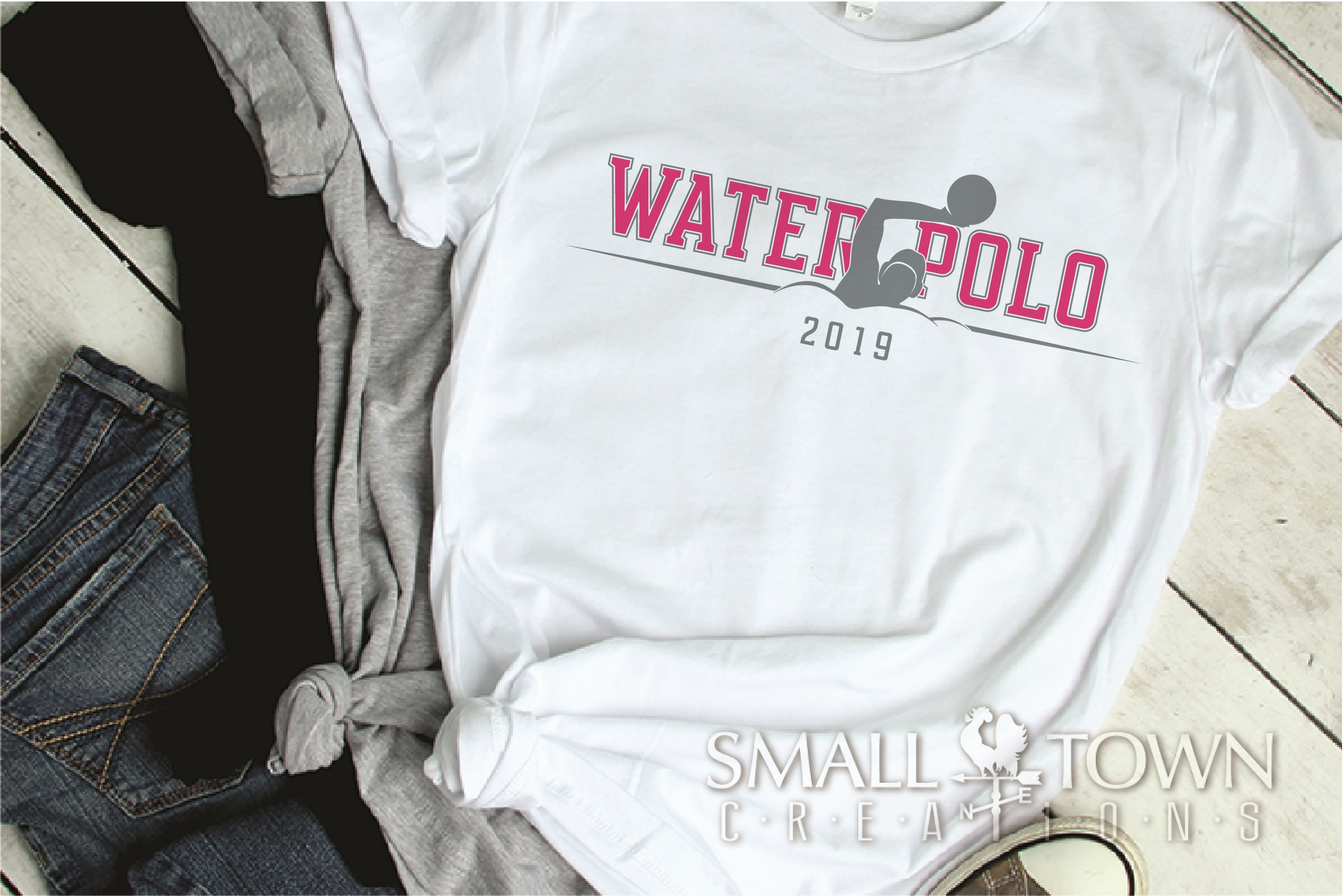 Water Polo, Water Sport, Team, logo, PRINT, CUT & DESIGN example image 2