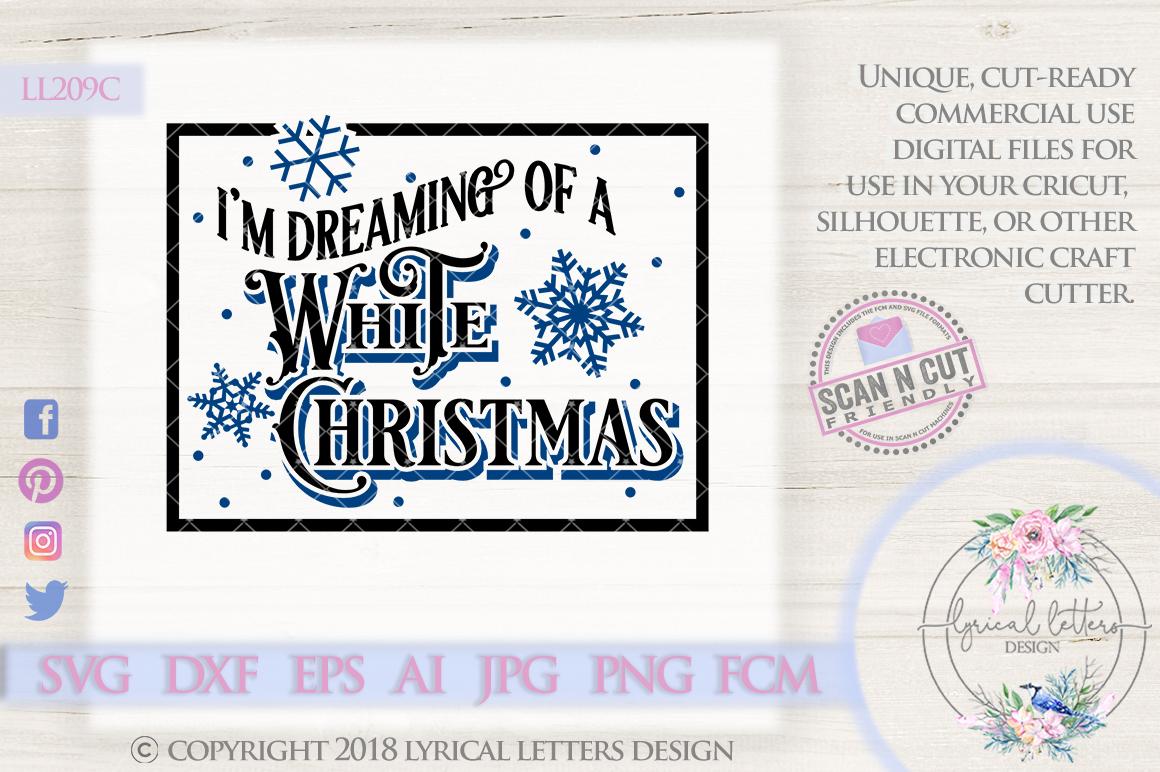Dreaming of a White Christmas Vintage C | Design Bundles