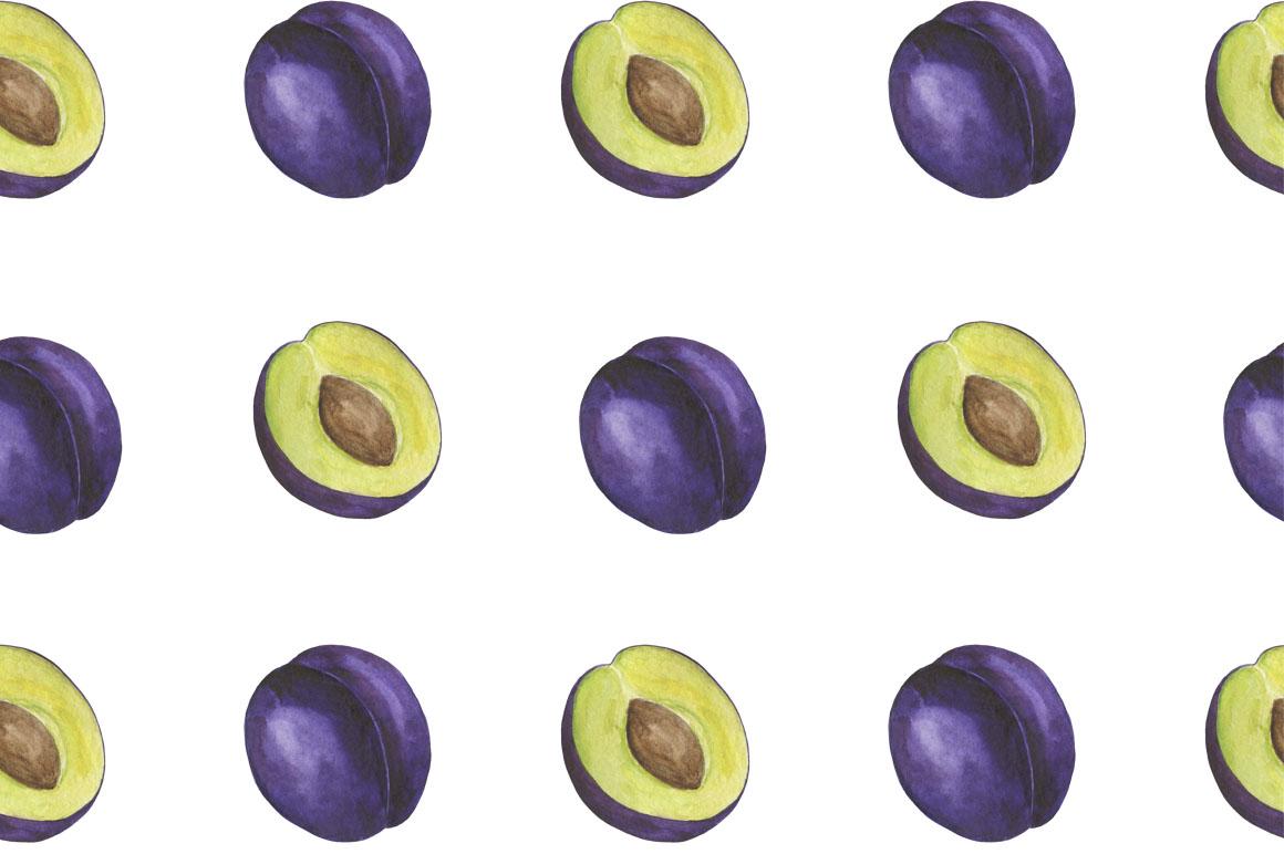 Set Plum watercolor example image 3