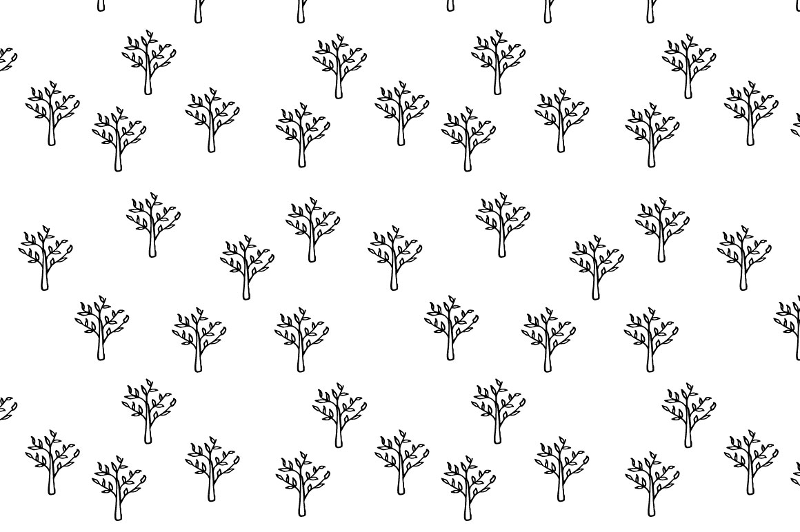 Trees pattern collection example image 3